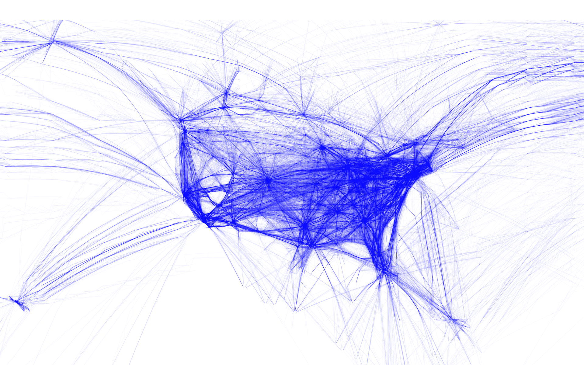 Flight patterns over U.S. [via]