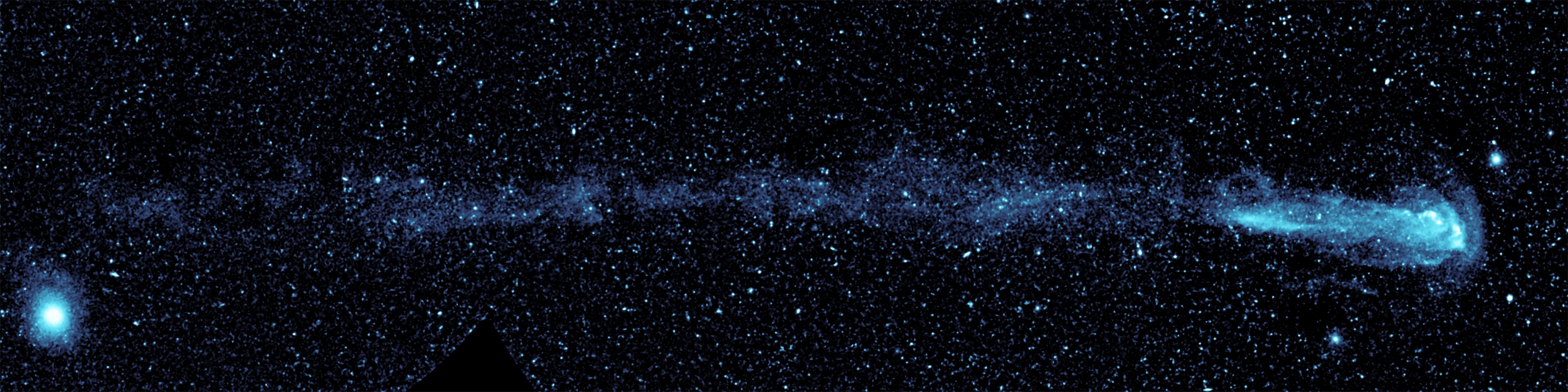 Mira Ceti composite taken by NASA's Galaxy Evolution Explorer. [via]
