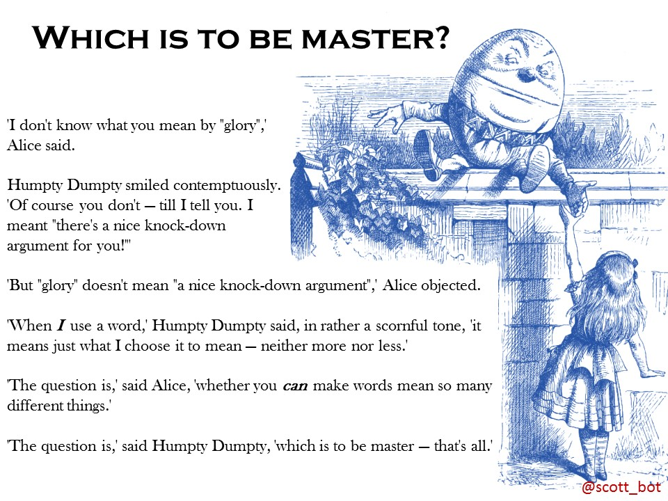 Which is to be Master?